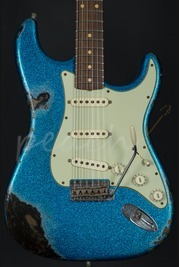 Fender Custom Shop 62' Heavy Relic Strat - Blue Sparkle over Black