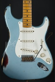 Fender Custom Shop 56' Heavy Relic Strat - Ice Blue Metallic over Sunburst