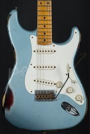 Fender Custom Shop 56' Heavy Relic Strat - Ice Blue Metallic over Sunburst