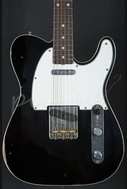 Fender Custom Shop 62 Tele Custom Relic Black over 3 tone sunburst