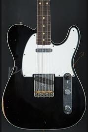 Fender Custom Shop 62 Tele Custom Relic Black over 3 tone sunburst