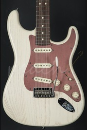 Fender Rustic Ash Stratocaster RW Olympic White Used used