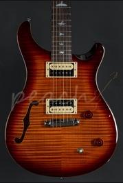 PRS SE Custom 22 Semi Hollow Dark Cherry Sunburst