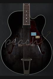 "Gibson Custom Solid Formed 17"" Hollowbody Venetian - Trans Black"