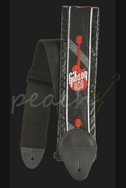 "Gibson 3"" Woven Strap with Gibson Logo Red"