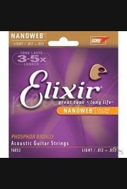 Elixir 12-53 Phosphor Bronze Nanoweb  - Light