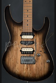 Suhr Modern Trans Charcoal Burst - Spalted Maple/Alder - Roasted maple