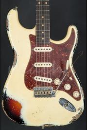Fender Custom Shop '60 Heavy Relic Strat Aged Vintage White over 3TSB