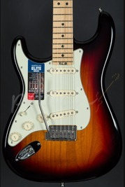Fender American Elite Strat Left Handed Maple Neck 3 Tone Sunburst