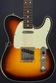 Fender Custom Shop '62 Relic Tele Faded 3 Tone Sunburst