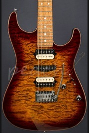 Suhr Standard Bengal Burst 1 pc Quilt/5A Roasted Birdseye neck