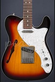 Fender Deluxe Tele Thinline 3 Tone Sunburst Rosewood