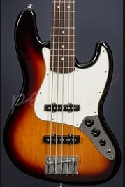 Fender Mexican Standard Jazz Bass Brown Sunburst 5 String