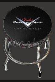Fender Custom Shop Pinstripe Logo Bar Stool 30 inch