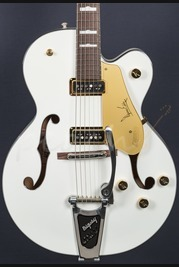 Gretsch G6120DE Duane Eddy FSR Pearl White Hollow Body