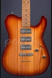 Suhr Classic Telebird Suhr Select Brown Burst Reclaimed Pine Body