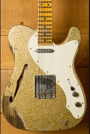 Fender Custom Shop 50's Relic Tele Thinline Aztek Gold over Gold Sparkle