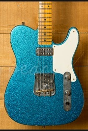 Fender Custom Shop Tele Caballo Tono Aged Blue Sparkle
