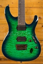 Ibanez S6521Q-SLG Surreal Blue Burst Gloss