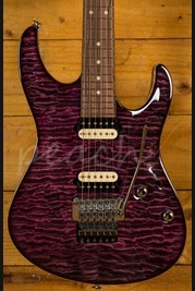 Suhr Modern Carve Top Set Neck Suhr Select Purple Burst