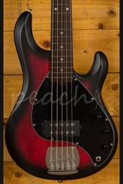 Music Man Sterling Sub Ray 5 Bass - Ruby Red Burst