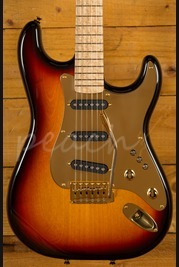 "Schecter USA Custom Shop ""Sultan"" 3 Tone Sunburst w/ Brass Plate"