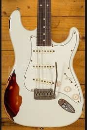 Suhr Classic Antique Olympic White Over 3 Tone Sunburst Rosewood