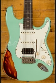 Suhr Classic Antique Surf Green Over 3 Tone Sunburst Rosewood