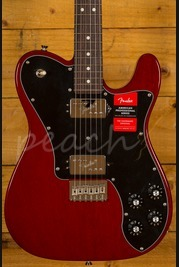 Fender 2017 Ltd Mahogany American Pro Tele Shawbucker Crimson Red Trans
