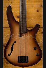 Ibanez SRH500F-NNF Fretless Bass Natural Brown Burst Flat