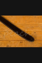 Leathergraft Embossed Guitar Strap - Black