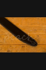 Leathergraft Pro Deluxe Reversable Guitar Strap - Black Suede