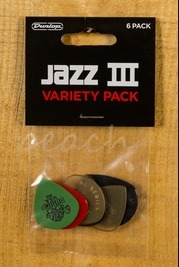 Jim Dunlop Jazz III Player Pack Variety 6 Pack