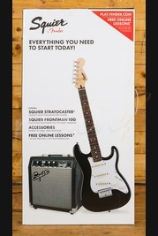 Squier Strat Pack Short Scale, Black, Frontman 10G Guitar Amplifier