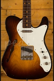 Fender Custom Shop 50s Thinline Tele Relic Wide Faded 2 Tone Sunburst