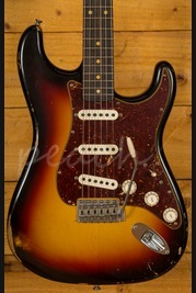 Fender Custom Shop 60 Strat Relic 3 Tone Sunburst Torty Plate