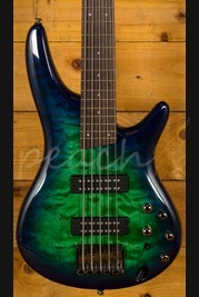 Ibanez SR405EQM-SLG 5 String Bass Surreal Blue Burst Gloss