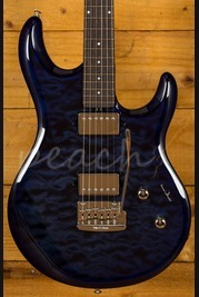 Ernie Ball Music Man Luke III BFR HH Blueberry Quilt