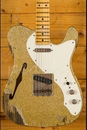 Fender Custom Shop 50's Relic Tele Thinline Gold Sparkle over Aztec Gold Used