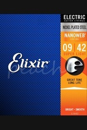 Elixir Electric Nickel Nanoweb Strings - 9-42 (Super Light)