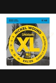 D'addario - 9-46 Super Light Top/Regular Bottom