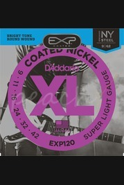 D'addario EXP120 SET ELEC GTR EXP SUP LIGHT