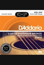 D'addario - 10-47 Extra Light Coated Acoustic Strings