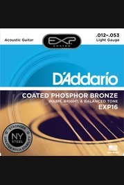 D'addario - 12-53 Light Coated Acoustic Strings