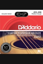 D'addario - 13-56 Medium Coated Acoustic Strings