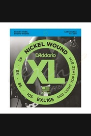 D'addario - 45-105 Regular Light Top/Medium Bottom Long Scale Bass