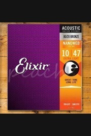 Elixir Acoustic Nanoweb 80/20 Bronze Medium 13-56