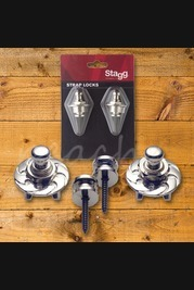 Stagg Straplocks Chrome