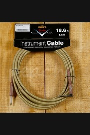 Fender Custom Shop 18.6ft Angled instrument Cable Tweed