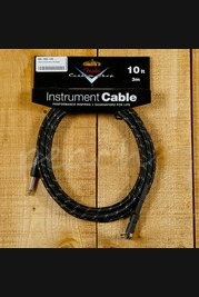 Fender Custom Shop 10ft Angled Instrument Cable Black Tweed